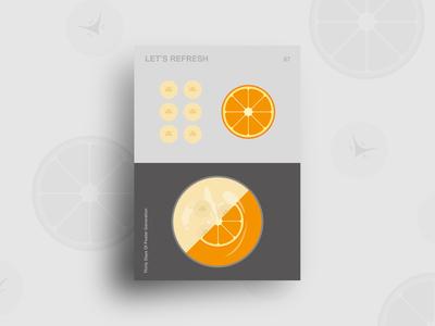 Day 07 : Let's Refresh drink fruits food 30daychallenge flatdesign illustration graphic design