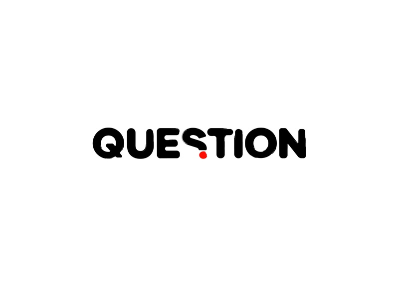Question (exprimentl work) ideas brushstyle solution animation letter abstract creative typography business icon illustration logotype idea design logo design idea question mark logo questions question