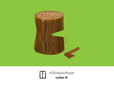 Letter B adobe illustrator illustration logotye logodesign logo typeart type 36daysoftype06 36days 36daysoftype letterb wood wooden