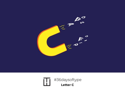 Letter C logo creative typography 36days-adobe 36daysoftype06 abstract illustration ideas type 36days 36 days of type 36daysoftype concept magnet clean lettercollective letterc