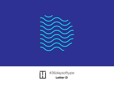 Letter D animation modern trend 36days dlogo artist typography 36 days of type 36daysoftype wavy dalga drawing letterd d