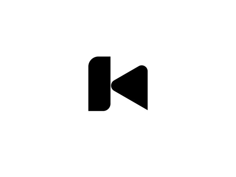 K klog shapelogo logo illustration typography animation design abstract vector creative branding media k letter k
