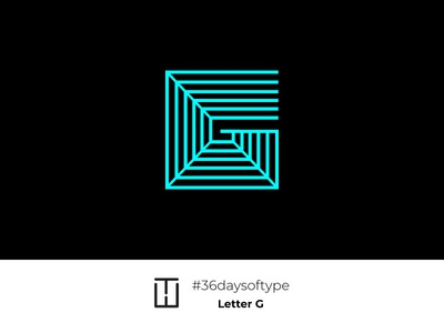 Letter G ux ui design branding vector creative typography 36days shape 3d animation 36 days of type letter g 36daysoftype