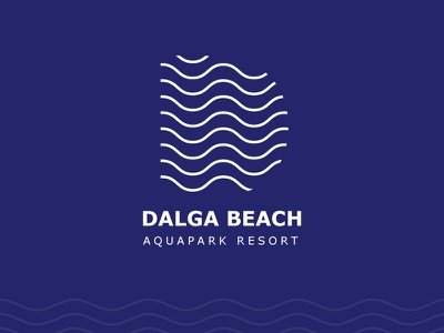 Dalga Beach logo illustration business creative vector abstract line waves waveform wavy dalgha aquapark logo identity idendity d logo logo ui line abstract wave dalga beach