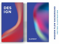 poster covers with color vibrant gradient background