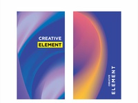 Set of poster covers with color vibrant gradient background.
