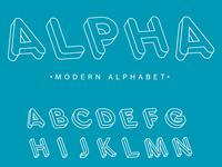 Isometric modern alphabet