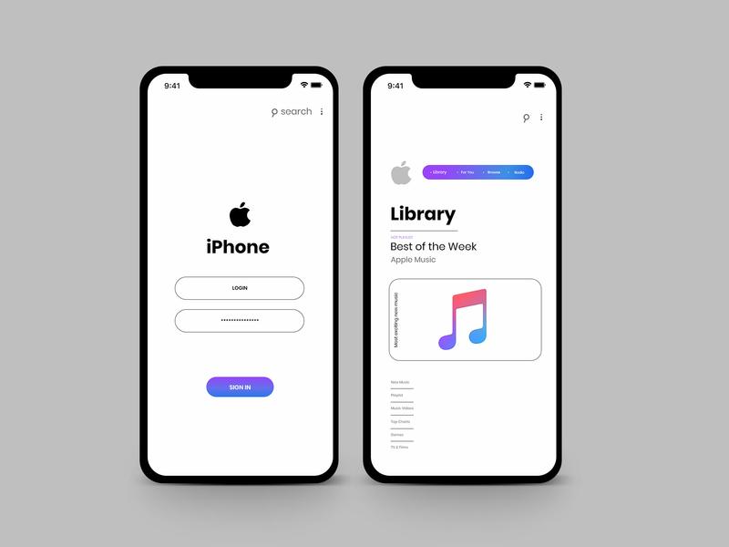 Iphone music app ux ui branding search apple app branding app animation music app ios