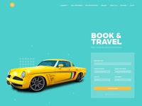 Car Booking and Travel Web Interface