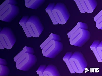 Datadog 10 Year Anniversary Wallpaper wallpaper design vector illustration branding datadog