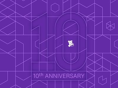 Datadog 10 Year Anniversary Wallpaper typography wallpaper vector illustration branding identity datadog