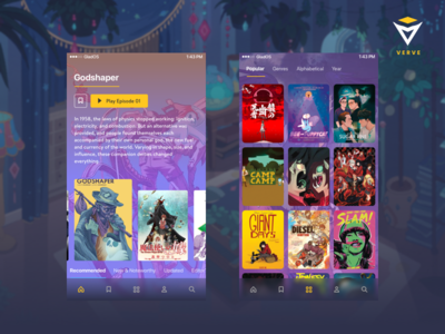 VRV Mobile App Concept Preview