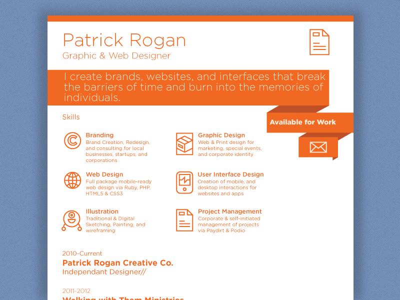 Clean Resume resume clean brand icons work