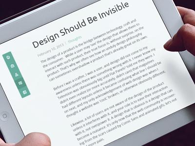 Cubito Article Entry  design clean minimal web ipad apple creadivs smorrs blog post flat words entry