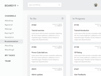 Grayscale Wireframe for Management Board