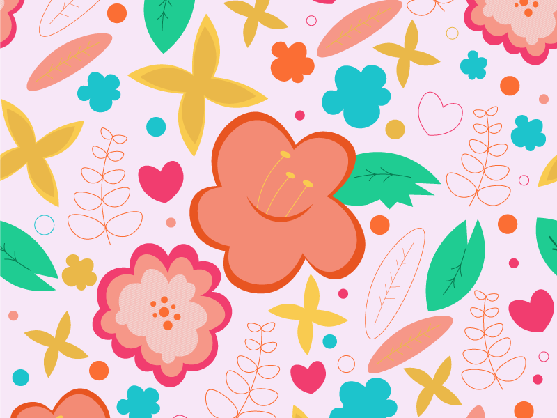 Floral Background By Marilyn Hampton On Dribbble