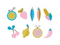 Fruit & Veggie illustrations