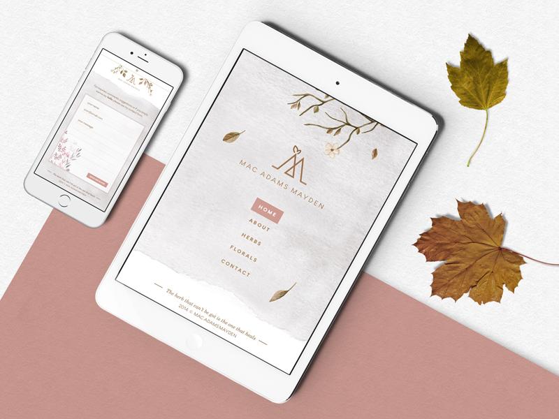 Mac Adams Mayden responsive pastel web design branding logo