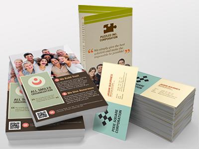 Print Marketing brochure flyer business card