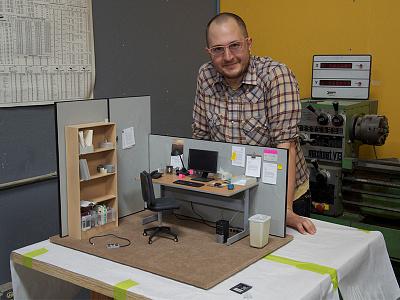 Pacific Rim Desk Scale Model special effects destruction cubicle office desk kaiju movie monster robot film miniature scale model
