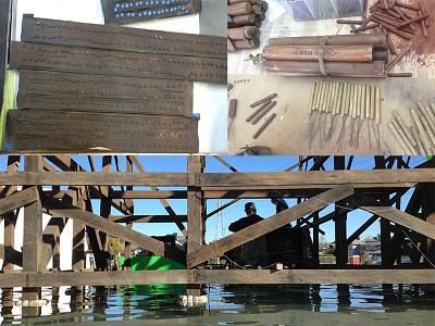 The Lone Ranger Bridge Scale Model indian cowboy western special effects scale model movie miniature film destruction dynamite bridge