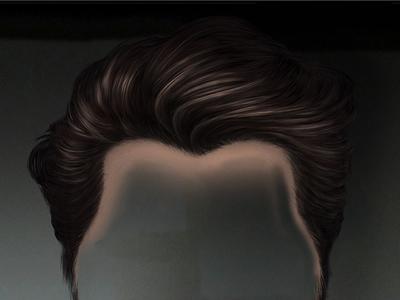 Hair Paint Close Up
