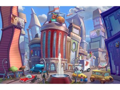 Dog City Concept Art Collaboration
