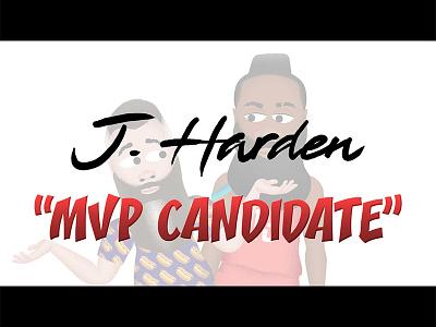 "J. Harden Cartoon ""MVP Candidate"" basketball humor funny animation cartoon james harden nba ishaboyjharden"