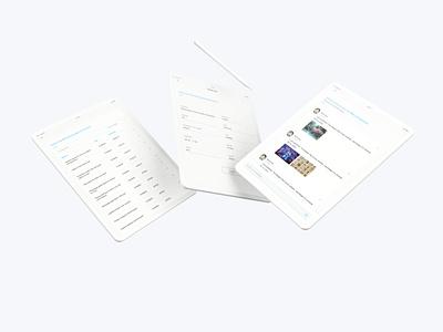 Tablet app ui mobile ui app ux design ipadpro