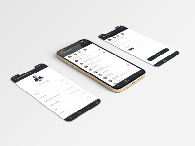 Messaging app minimal mobile ui ux ui ios design app