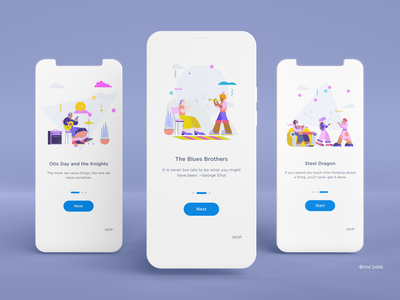 Onboarding music mobile app design minimal illustration app mobile ui ios ux