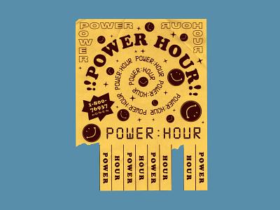 PWRHR joke graphic design typography layout powerpoint design flier time travel power hour