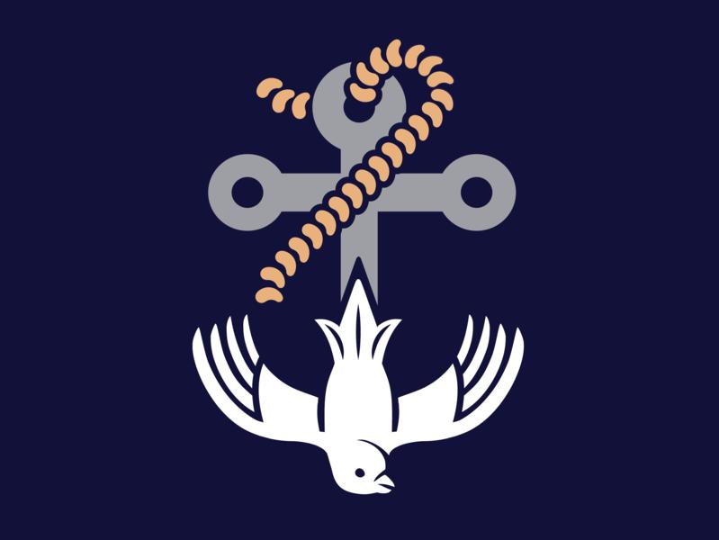 Victor Harbor Anglican Church Logo branding design brand graphic designer logo design logo icon illustration vector graphic design design denoffoxes branding
