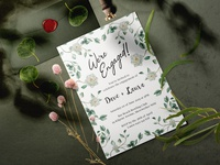 Gardenia Engagement Invitation
