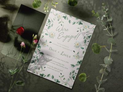 Alternate colour palette engagement invitations