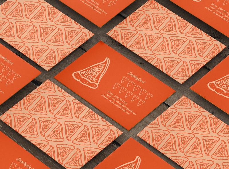 The Carlson Block Logo Option Three Business Card pizza logo pizzeria pizza business card business card design business cards logo design logo print graphic designer branding design brand graphicdesigner graphicdesign denoffoxes design branding graphic design