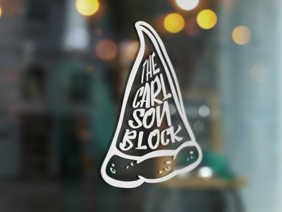 The Carlson Block Logo Option Two Window Decal