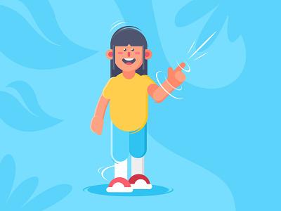 Pew Pew 👉 digital illustration characterdesign character color hand gun kid children digitalart icon logo ui ux interaction flat  design vector design ui design illustration