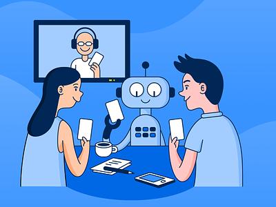 Planning Poker Online 🃏 robot planning drawing poker flat web ux design ux flat  design ui vector design ui design illustration
