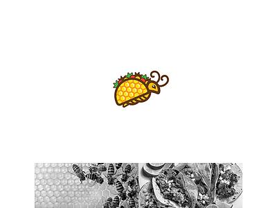 Bee + Taco logo girls super offensive heros new arabic library brand bragon ball icons icon for creative design logos logo taco bee bee  takos logo