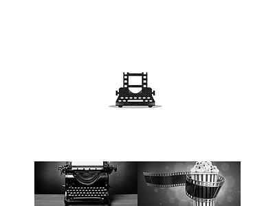 typewriter + movie logo super offensive heros mobile new arabic library brand bragon ball icons icon creative design logos logo mark movies movie typewriter