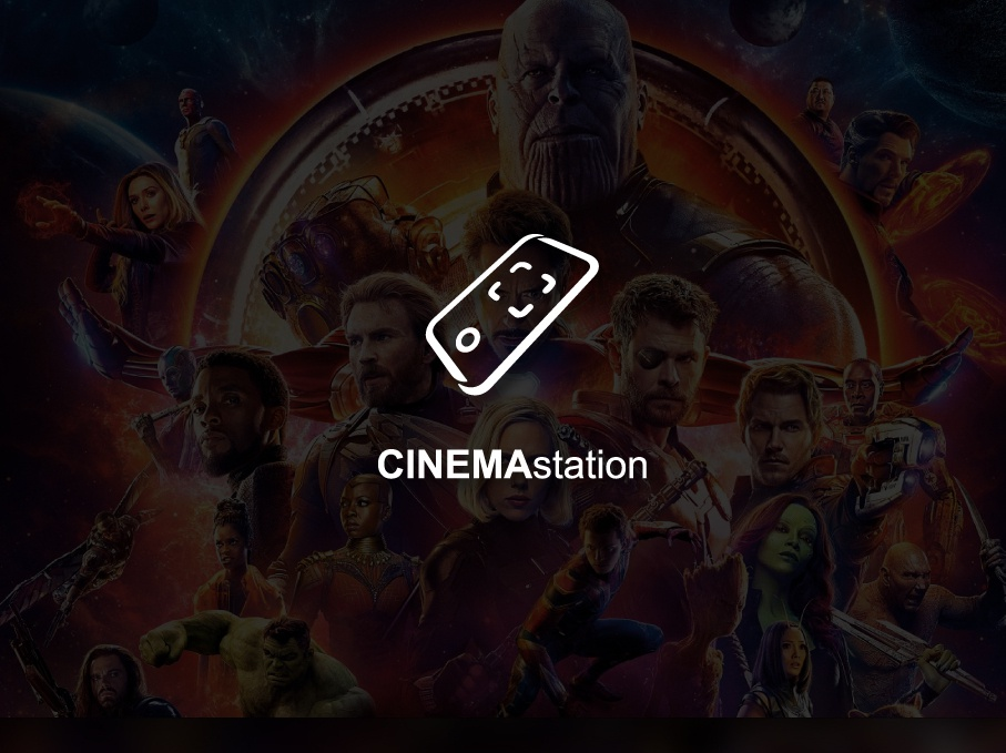 CINEMAstation | Logo app animation ux super illustration library new ball branding vector bragon typography arabic icons icon brand design creative logos logo