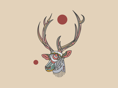 Animal Illustrations - Elk Concept 01