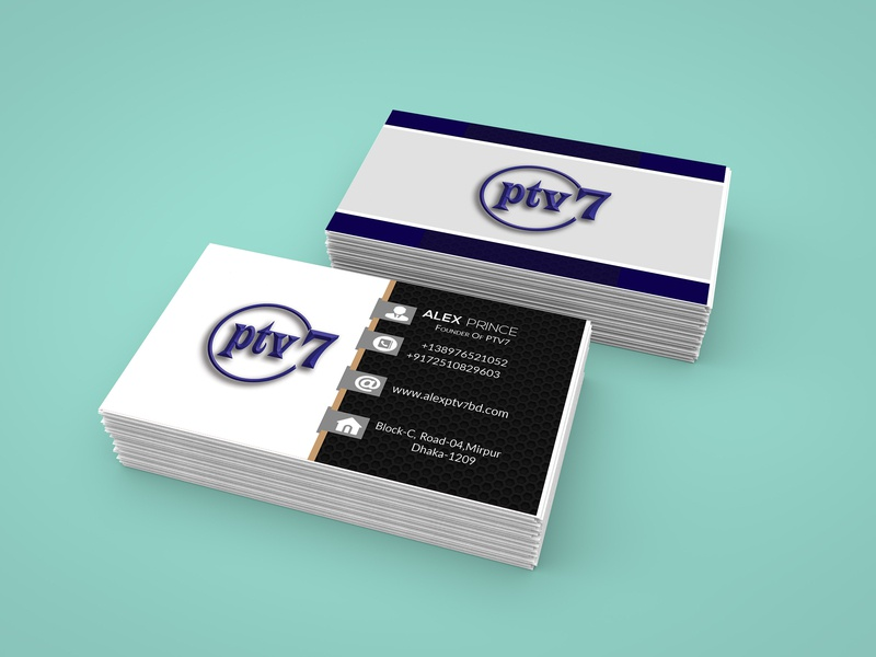 Business card for Ptv7 CEO modern business card free print design free business card template promotion card corporate business card visiting texture card name card free paid mock up clean business card media business card awesome business card download business card free business card mockups visiting card creative card ptv business card ptv logo branding 2019 business card