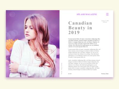 """SPLASH"" Magazine Home Page Redesign Concept"