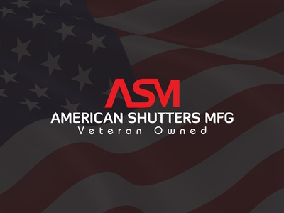 American Shutters Mfg Logo iron company logo manufacture company logo owned logo red white logo veteran logo usa company logo american shutters mfg logo asm logo steel company logo door company logo window company logo door logo shutter logo