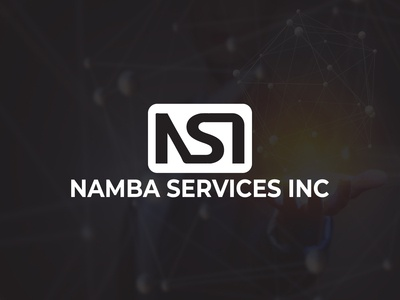 Namba Services INC (Security Company Logo) rounded rectangle logo print ready logo white logo typeface logo minimal logo free logo mock up logo template free logo digital logo namba logo nsi logo security logo