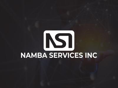 Namba Services INC (Security Company Logo) rounded rectangle logo print ready logo white logo typeface logo minimal logo free logo mock up logo template free logo digital logo namba logo nsi logo security logo
