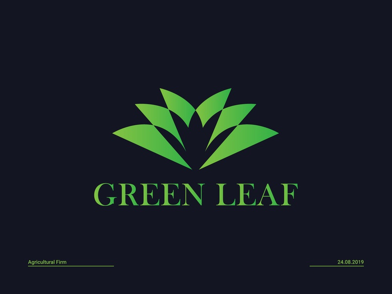 Green Leaf agriculture business  consulting green leaf gradient green evergeen organic logo vegetable firm logo leaf logo agricultural firm logo natural logo green logo agriculture