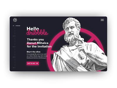 Hello Dribbble! digital design hello world ui design web design hello dribbble
